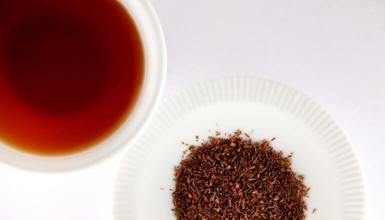 rooibos tea on white table