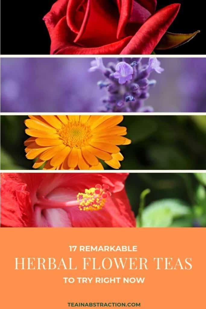 flower herbal tea pinterest image