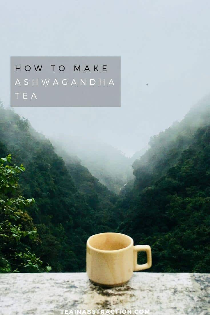 how to make ashwagandha tea pinterest image