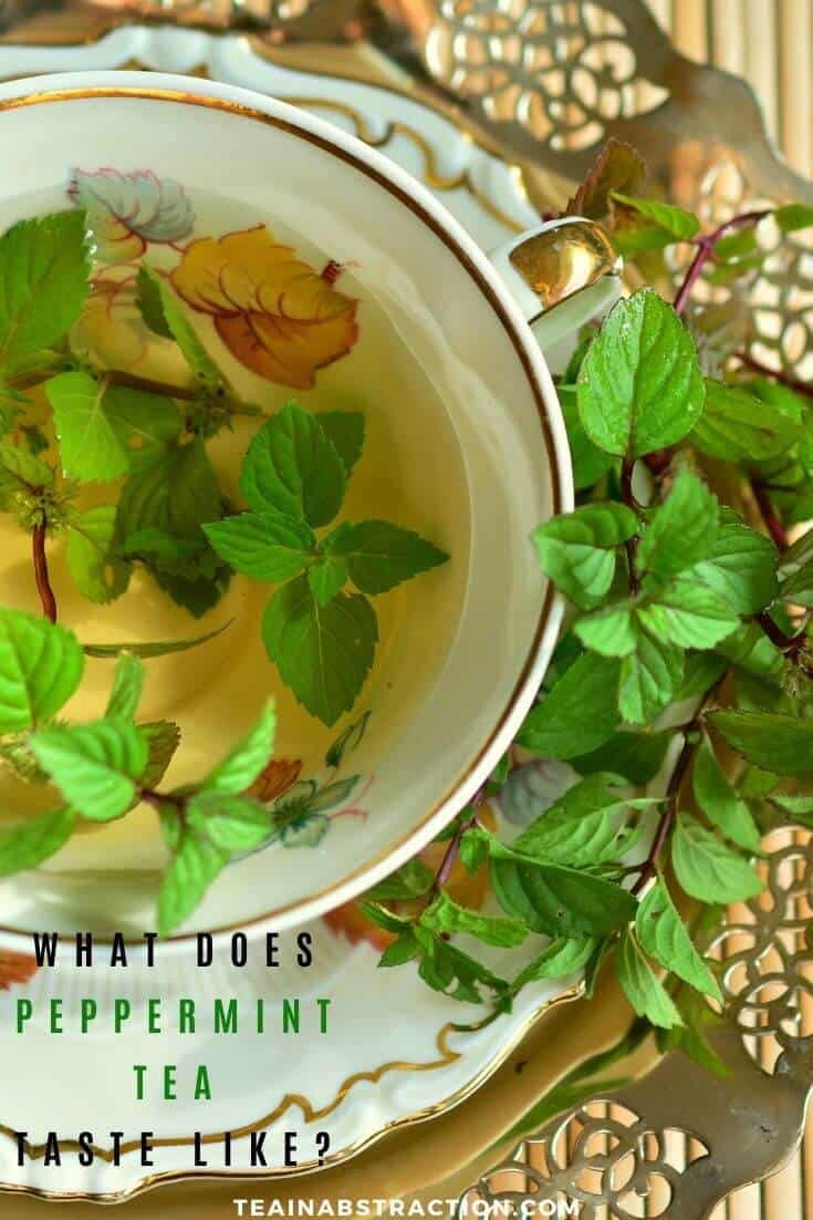 what does peppermint tea taste like pinterest image
