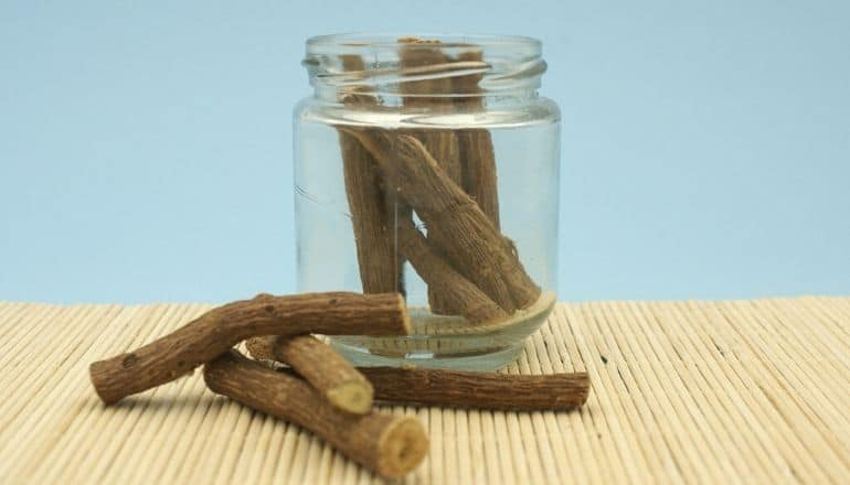 licorice root in a jar