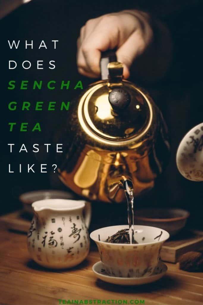 what does sencha green tea taste like pinterest image