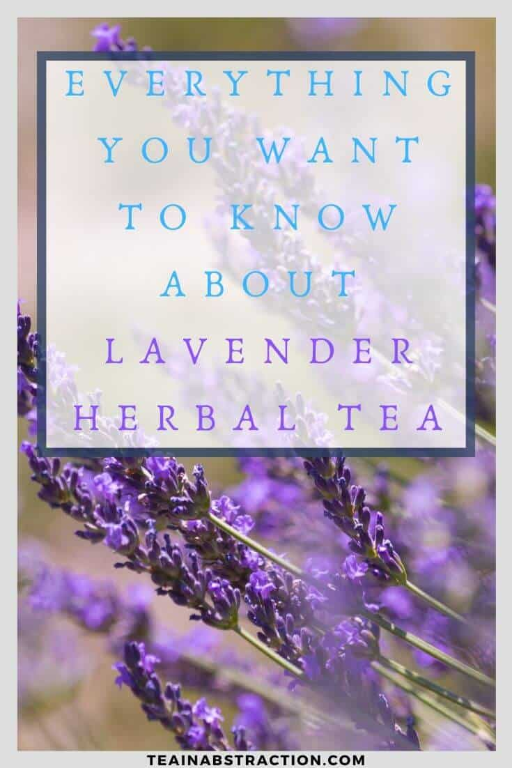 Everything you need to know about lavender tea pinterest image