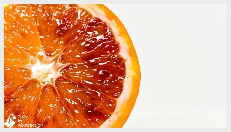 close up image of a blood orange