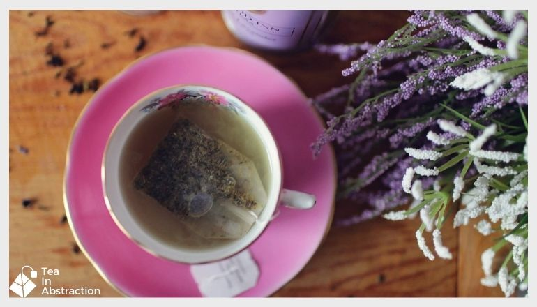 cup of lavender tea